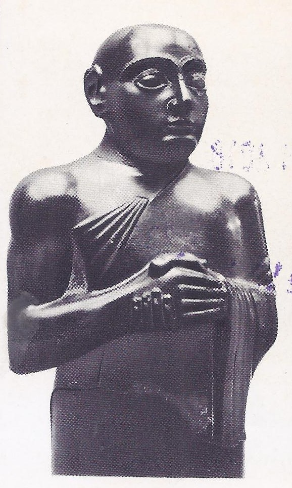 Gudea, the Ensi or ruler of Lagash, under whom the city of Lagash became the leading cultural centre of Sumer. The Sumerians were the earliest rulers of the civilization of Mesopotamia and were displaced finally by the Semitic dynasty of Babylon under King Hammurabi.