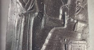 Relief on the stele of Hammurabi. The king is standing before divinity, who is probably Shamash, the sun god, regarded as the law-giver.