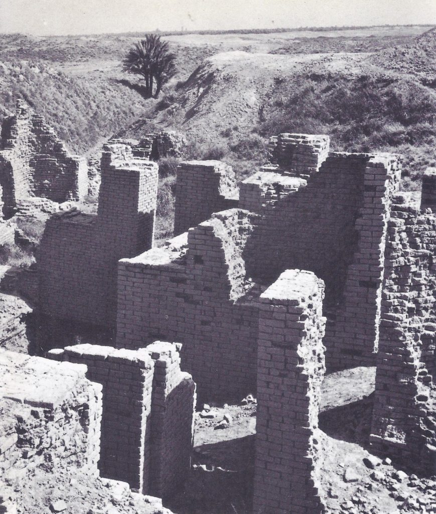 The remains of the prisons of Hammurabi, excavated at Babylon.