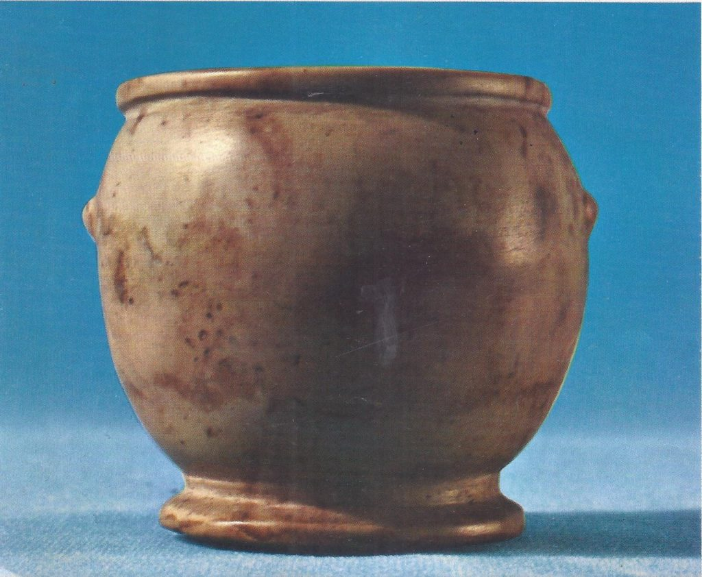Gray-white marble bowl, probably pre-dynastic.