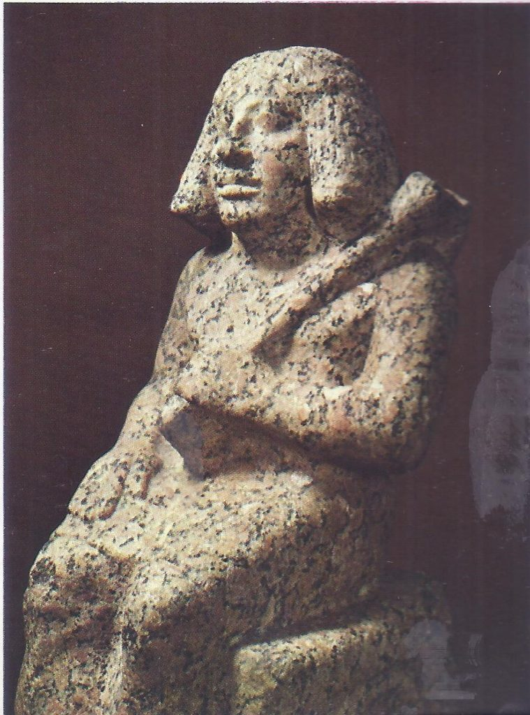 Bedjmes the shipbuilder, Third Dynasty, red granite statue now in the British Museum.