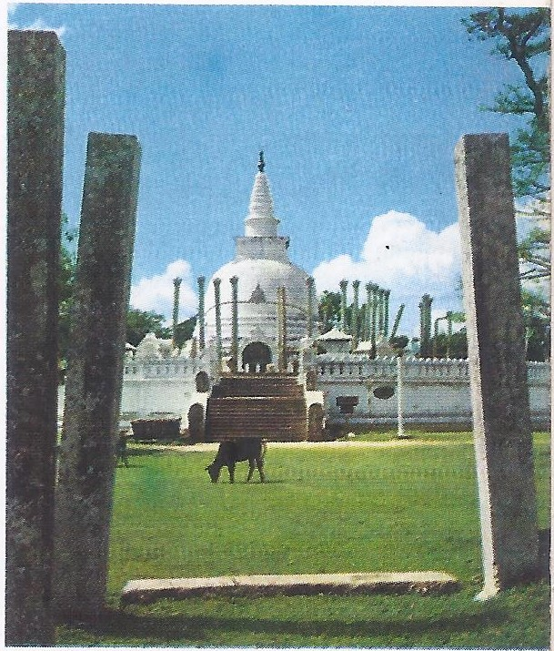 The dagoba, or stupa of Thuparama, in Ceylon. The oldest parts of this stupa date from the third century A. D.