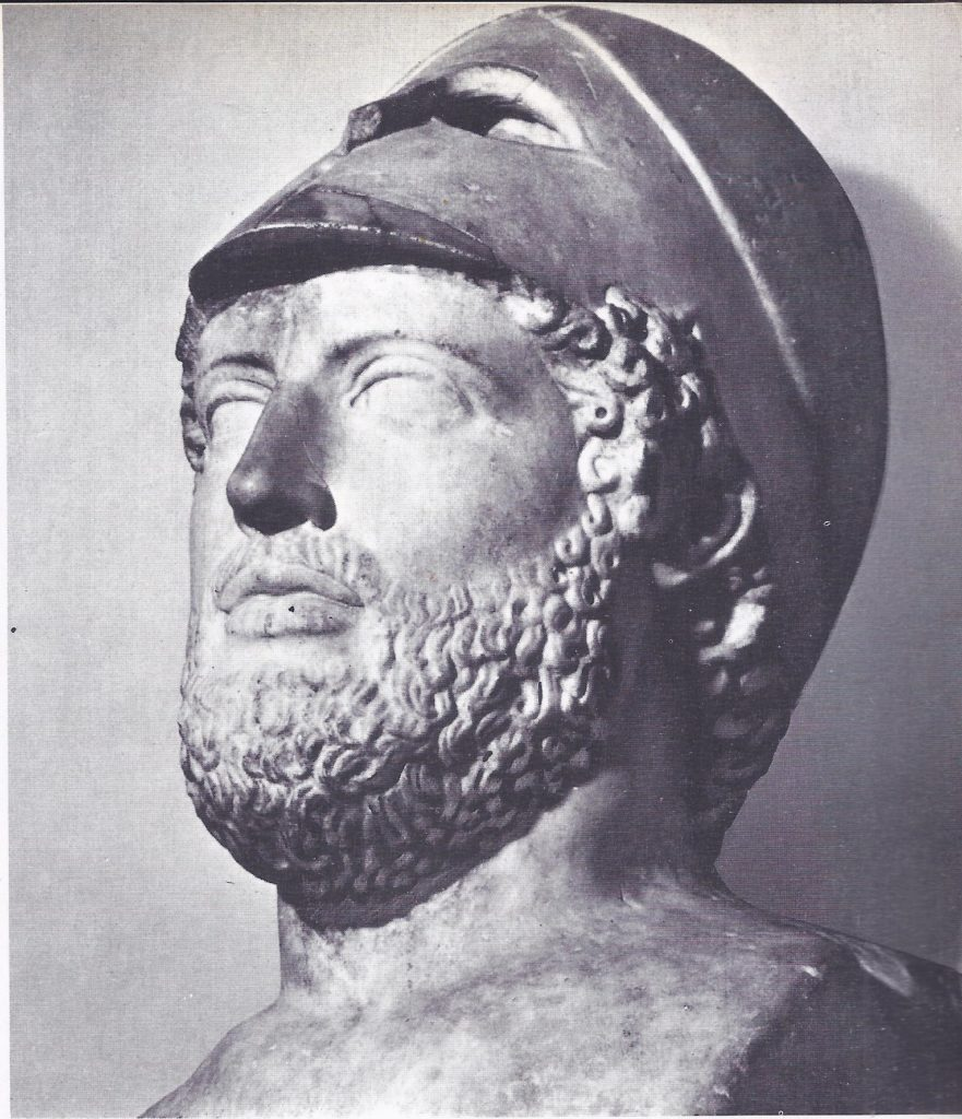 Pericles, the statesman for victorious Athens, was chiefly responsible for the disastrous war with Sparta. The drain on the resources of Athens caused by this lengthy and bitter struggle led to her defeat and to the temporary collapse of the democracy that had defeated the Persians.